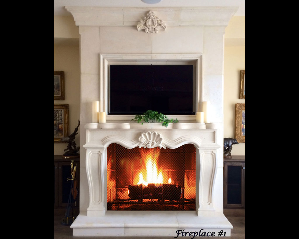 Fireplace portfolios with Over-Mantels 1