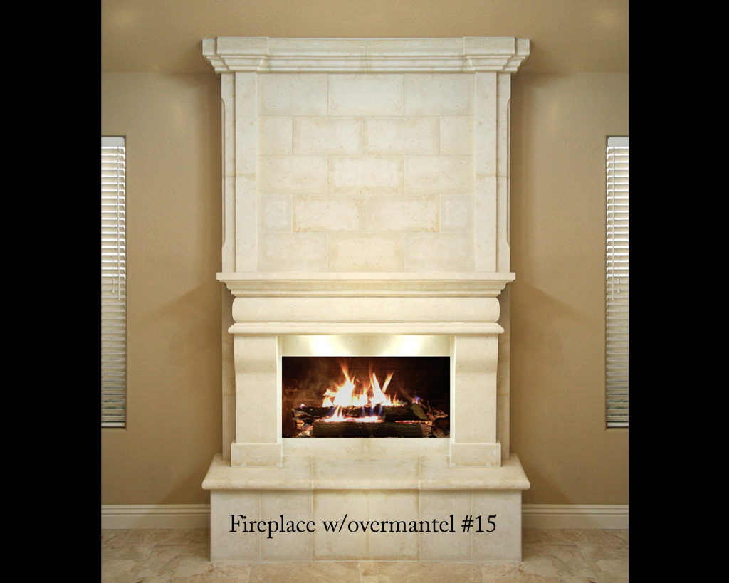 Fireplace portfolios with Over-Mantels 15