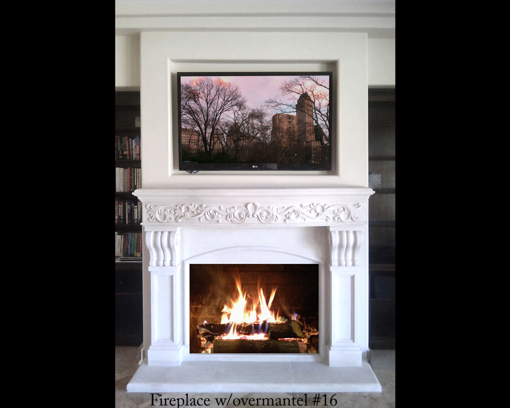 Fireplace portfolios with Over-Mantels 16
