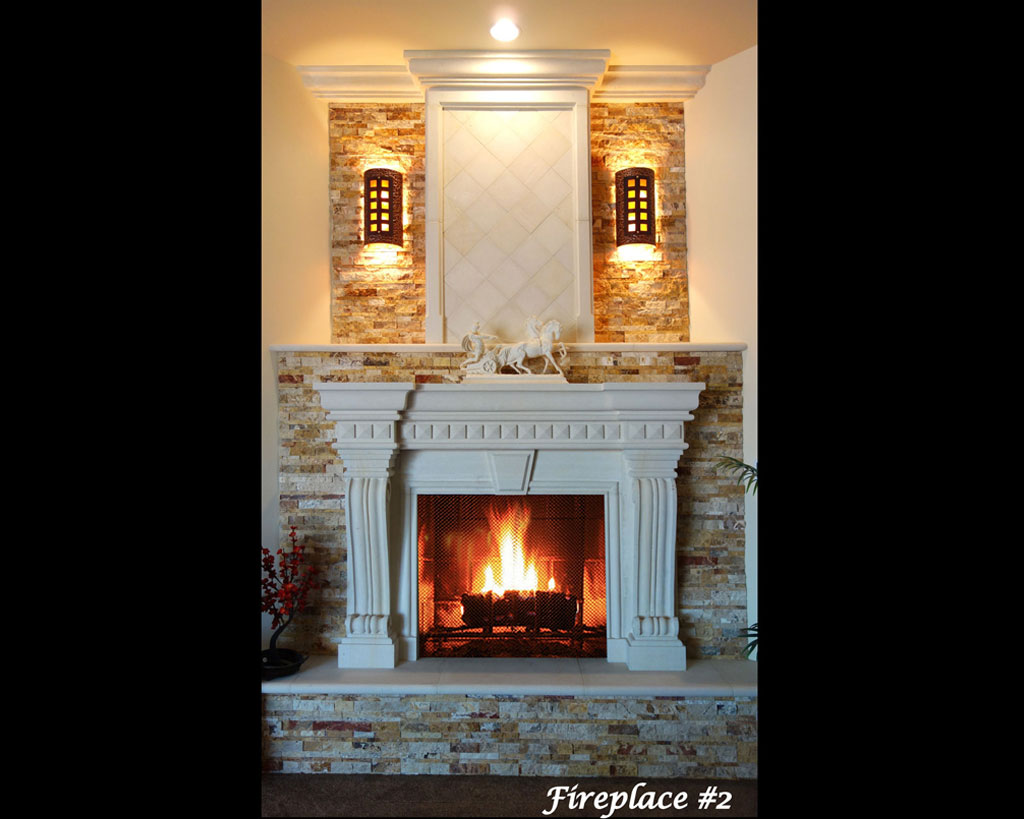 Fireplace portfolios with Over-Mantels 2