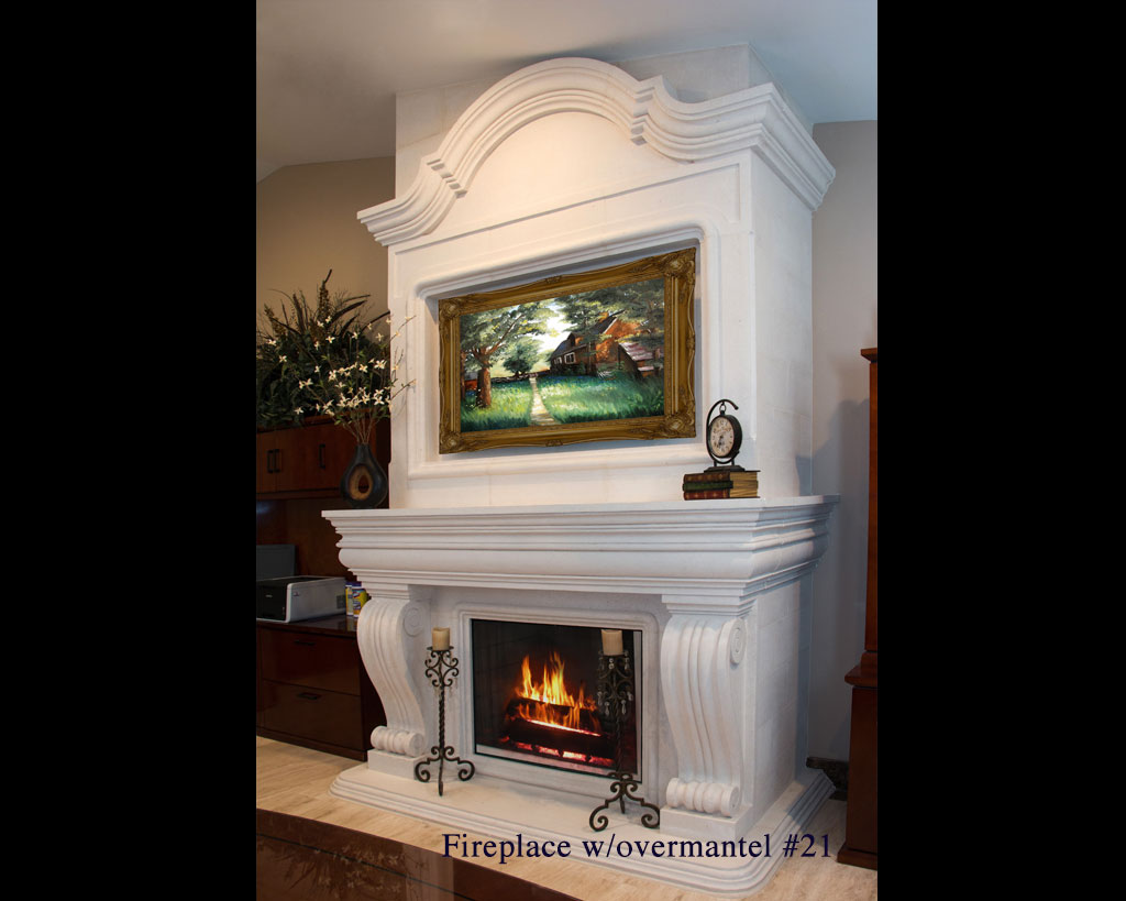 Fireplace portfolios with Over-Mantels 21