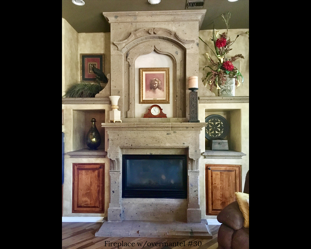 Fireplace portfolios with Over-Mantels 30