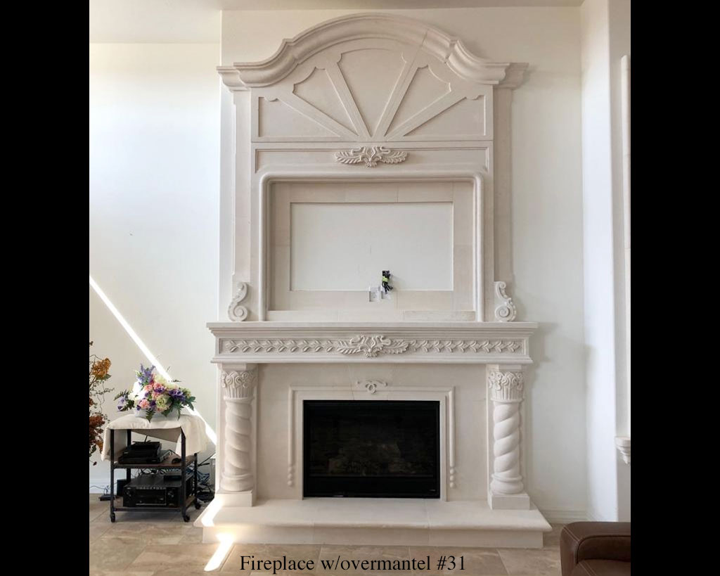 Fireplace portfolios with Over-Mantels 31