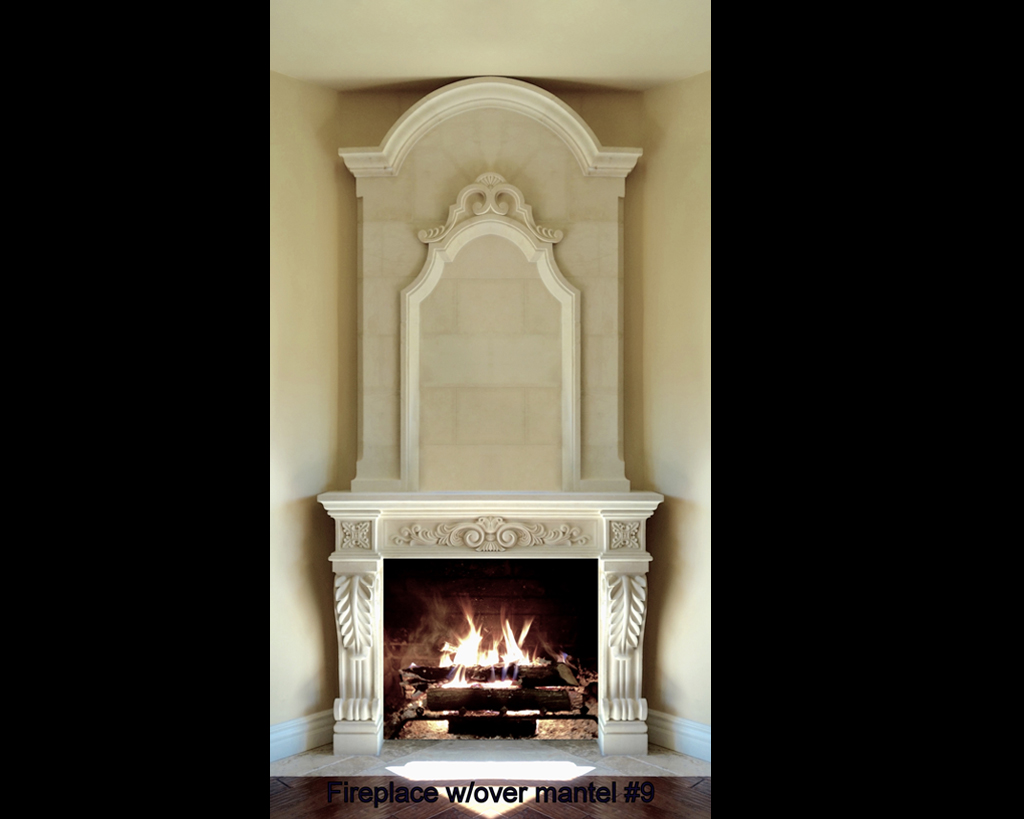 Fireplace portfolios with Over-Mantels 9